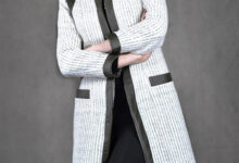 تصویر از مدل مانتو سفید و مشکی