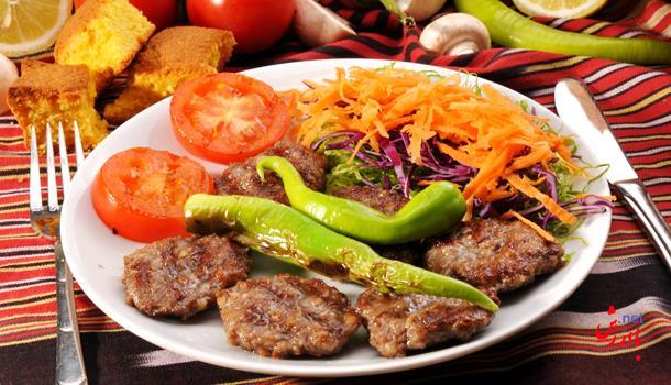 کوفته ایزگارا با دورچین سبزیجات