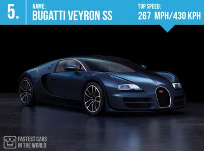بوگاتی ویرون سریعترین خودروهای جهان سال 2017