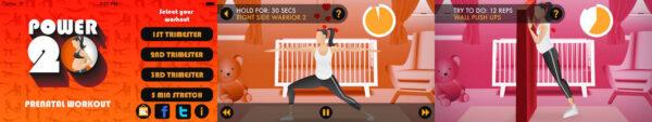 اپلیکیشن ورزش برای زنان باردار Prenatal Workout
