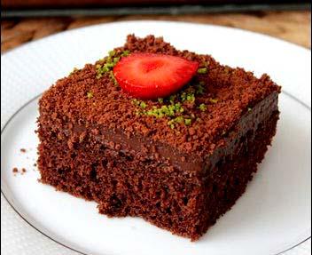 طرز تهیه کیک شنی شکلاتی