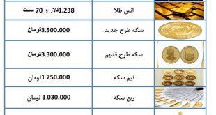 طلا و سکه 26 آذر 97