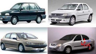 قیمت خودروهای تولید داخل