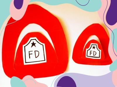 آموزش کاردستی کلاه روز آتش نشانی برای کودکان