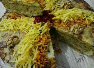 طرز تهیه کوکوی سه طبقه مجلسی