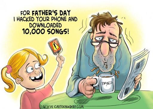 کاریکاتور طنز روز پدر